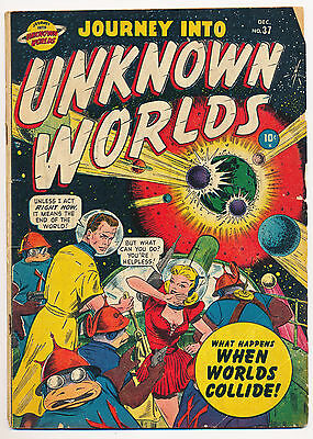 JOURNEY INTO UNKNOWN WORLDS No. 37, 1950, EVERETT, HITLER - TIMELY 2nd ISSUE