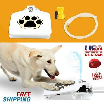 """Outdoor Trouble-Free Dog Pet Drinking Doggie Activated Water Fountain 41"""" Hose!"""