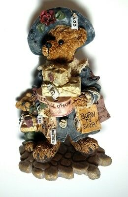 Vintage 1997 Boyds Bears & Friends #228306 Grace and Jonathan Born to Shop