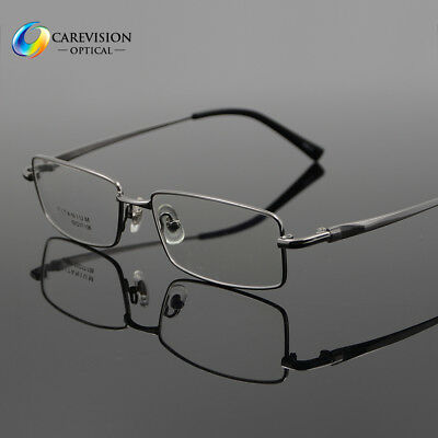 a626b37275ef Business 100% Pure Titanium Mens Full Rim Optical Eyeglass Frame Eyewear Rx  Able