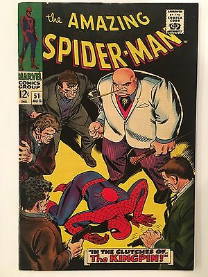 THE AMAZING SPIDER-MAN #51 2nd Appearance of the KINGPIN 1st JOE ROBERTSON Comic