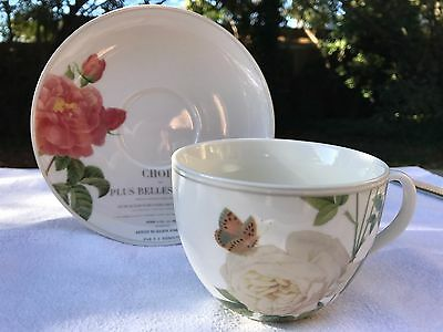"Charming ""Queen Charlotte's Memoirs"" Large Breakfast Tea Cup and Saucer"