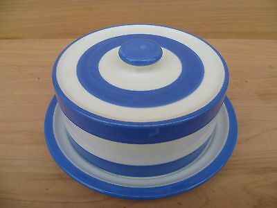 Phillipines Made Blue And White Cornish Ware Butter Dish (F913)