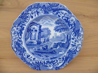 Vintage Old Copeland Spode English Blue & White Cabinet Plate (F916)