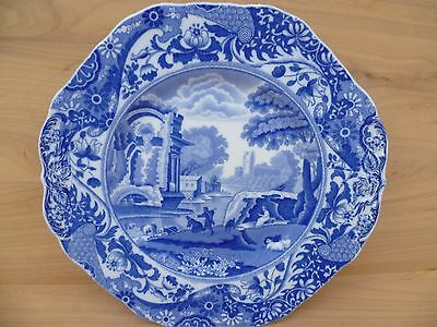 Vintage Old Copeland Spode Blue & White Cabinet Plate, Old Plate (F917)