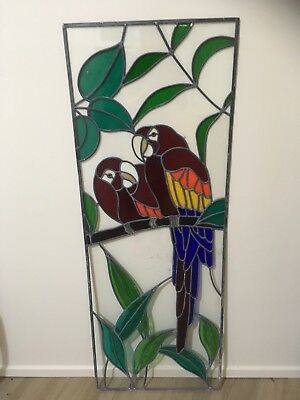 Stained Glass With Rosellas - Three Panels