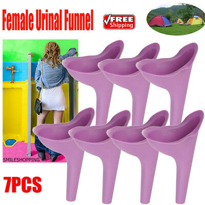 7Pcs Outdoor Travel Female Urinal Funnel Silicone Lady Urine Urination Toilet US