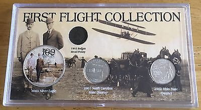 Morgan Mint First Flight Collectible Coins