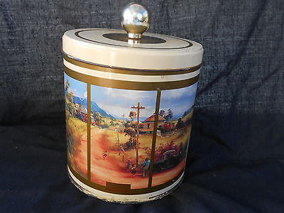 D'arcy W. Doyle Biscuit Tin with paintings collectable advertising canister