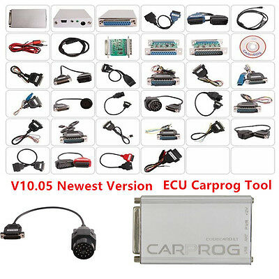 2017 V10.05 ECU Carprog w/All 21 Item Adapters Full Version Car Programming Tool