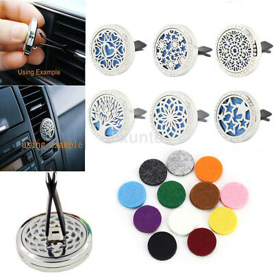 Stainless Crystal Car Air Vent Clip Freshener Essential Oil Diffuser Locket New