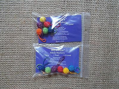 HiyaHiya stitch markers, yarn ball stitch markers, rainbow stitch markers, 6pcs