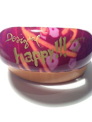 """DESIGUAL RESIN BANGLE """"HAPPY!! Every Time"""""""