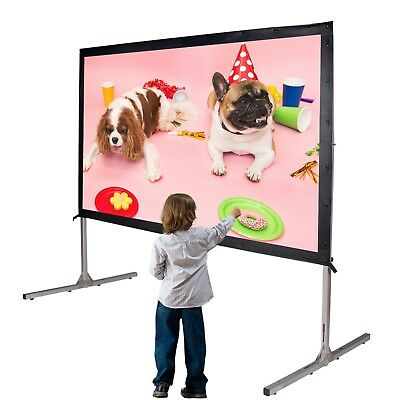 Movie Theater Projector Screen 100-inch 16:9 HD 5K Portable Projection Backyard