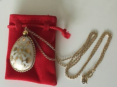 9ct solid Gold Chain and Porcelain Egg  Pendant  (Ltd edition)