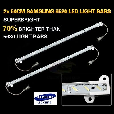 2x 50CM 8520 12V LED STRIP LIGHT BARS CAMPING CARAVAN CAMPING BOAT TENT AWNING
