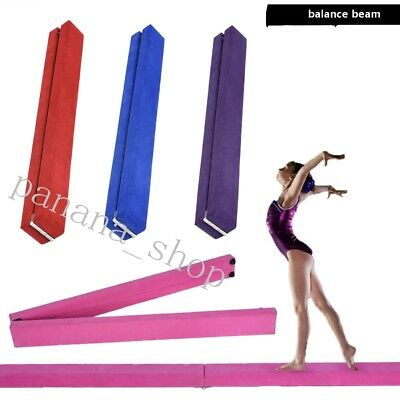 Panana Suede 7ft Gymnastics Folding Balance Beam 2.1M Gym Training Hard EVA