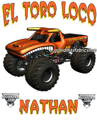 New El Toro Loco Monster Truck Custom Personalized T Shirt Birthday Party Gift