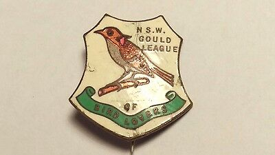 Rare 1935 Nsw New South Wales Gould League Of Bird Lovers Badge / Pin
