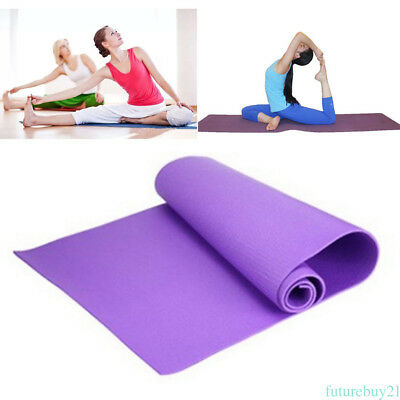 Non Slip Soft Resilient Natural Fitness EVA Yoga Mat Exercise 4MM Lose Weight YH
