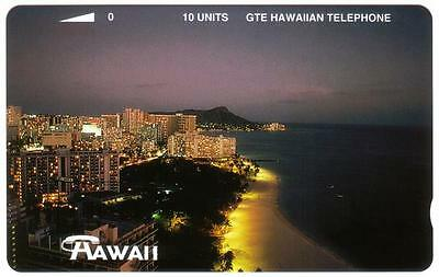 TK Telefonkarte 10u Coastal Lights & 'Hawaii'