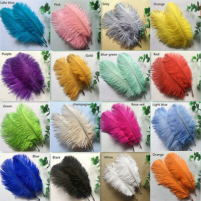 Beautiful!10-100pcs high quality natural ostrich feathers 6-8inch15-20cm