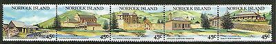 NORFOLK Is, 1988 CONVICT BUILDINGS STRIP 5 MNH