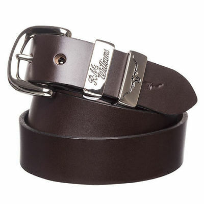 "RM Williams 1 1/4"" 3 Pce Solid Hide Belt - Size 34"" Chestnut - New • Free Post"