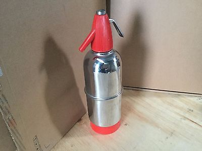 1 (one ) MODERN RETRO STAINLESS STEEL SODA SYPHON. MADE IN ITALY