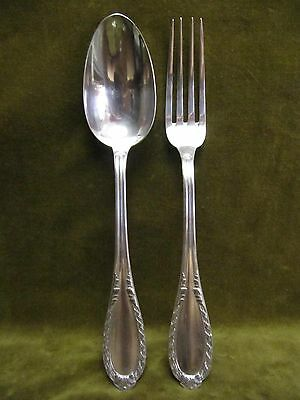 french sterling silver dinner fork, soup spoon Louis XVI st Ravinet & Cie