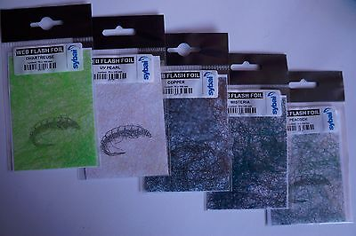 Fly Tying, Web Flash Foil, 5 Colours