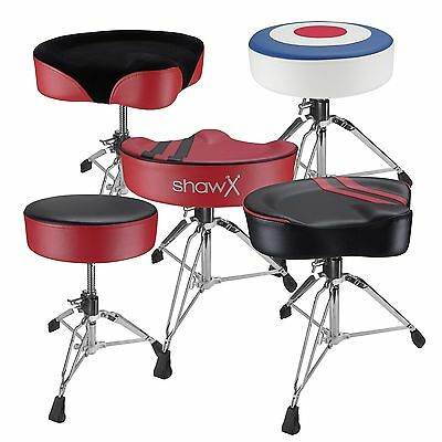 Shaw Pro Series Drum Thrones - Round and Saddle - Vinyl and Cloth
