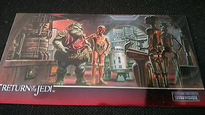Star Wars Return Of The Jedi Widevision Chrome Insert C-2