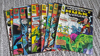 67 x The Mighty World Of Marvel Comics Hulk & Avengers/Apes/Dracula 1976 and 77