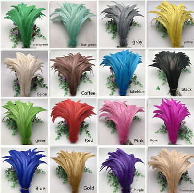 Wholesale! 10-100pcs Beautiful rooster tail feathers 12-14inches/30-35cm