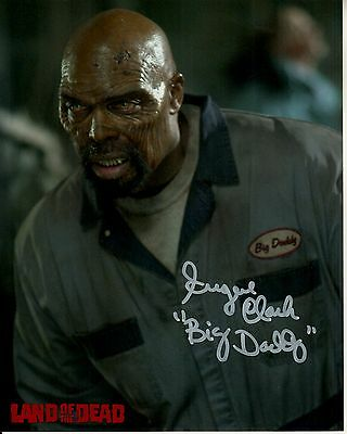 EUGENE CLARK hand-signed LAND OF THE DEAD color 8x10 uacc rd coa ZOMBIE CLOSEUP