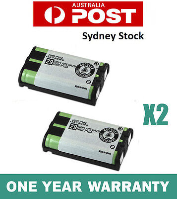 2X Battery FOR Panasonic HHR-P104 Cordless Phone Compatible Ni-MH 3.6V 900mAh