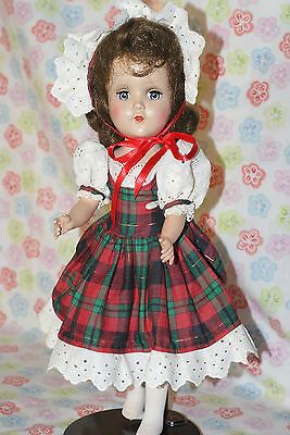 "BEAUTIFUL!! Vintage 14"" Nanette Hard Plastic Walker Doll 1952 Pin Jointed Hips"