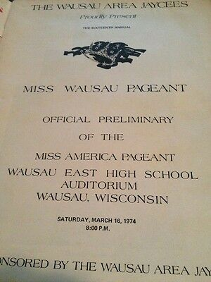 WAUSAU WISCONSIN HISTORY 1974 Miss America Pageant BLACK HISTORY