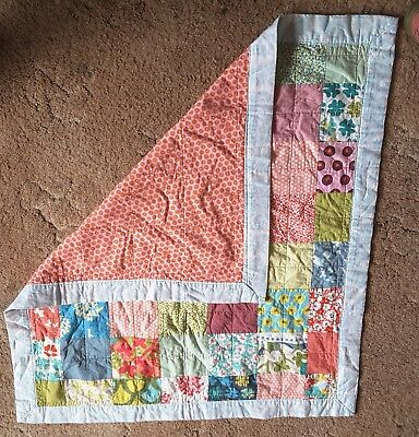 hand made patchwork blanket for baby/toddler girl