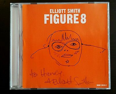 Elliott Smith Signed Figure 8 Pre-Release Cd