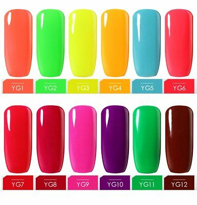 BELLE FILLE Neon Color UV LED Gel Nail Polish Varnish Soak-off Manicure DIY 10ML