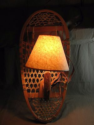 Handmade Antique Snow Shoe Wall Lamp Very Nice