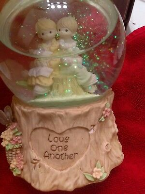 Precious Moments Love one another musical snow globe
