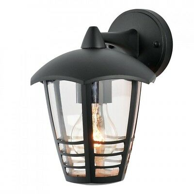 Outdoor Security Black Lantern Die Cast Aluminium Wall Light  IP44 Litecraft