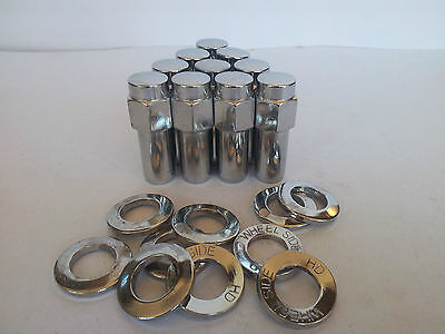 "20  Weld Wheel Nuts & Washers: 1.32"" Long Shank-7/16"" UNF Thread"
