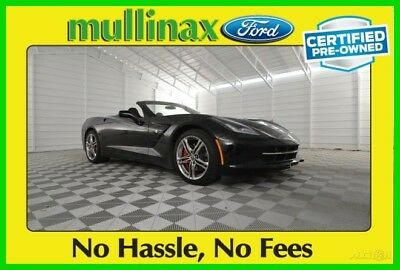 2016 Chevrolet Corvette Stingray 2016 Stingray Used Certified 6.2L V8 16V Automatic RWD Convertible Bose Premium