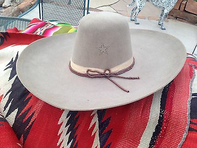 Early Tex Mex Cowboy Hat With Texas Star On The Side Sombrero