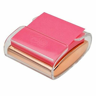 """3M Pop-Up Note Dispenser Rose Gold 3"""" by 3"""" NMIB"""