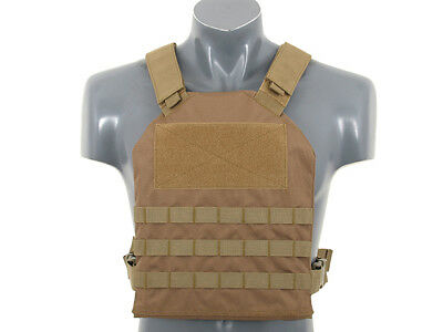 Plate Carrier mit Dummy Einlagen, tan - Airsoft Softair Weste Plattenträger